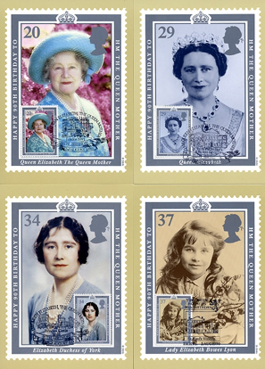 Queen Mother 90th Birthday PHQ Card