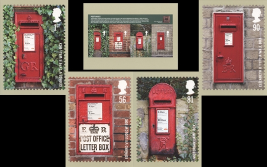 Post Boxes: Miniature Sheet PHQ Card