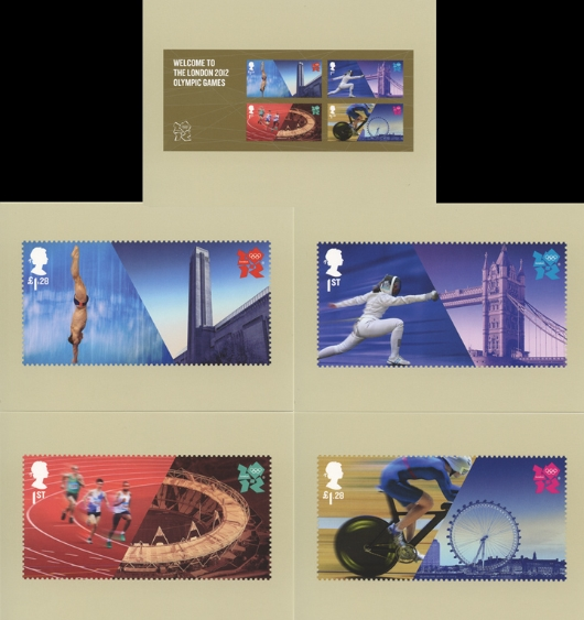 Welcome to the London 2012 Olympic Games: Miniature Sheet PHQ Card