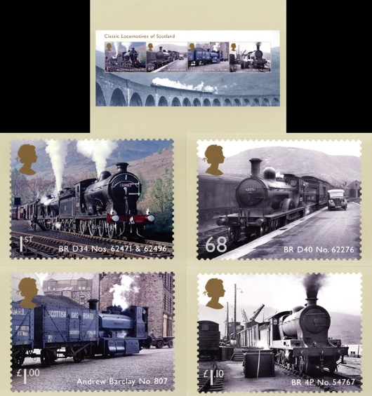Classic Locomotives: Series No.2: Miniature Sheet PHQ Card