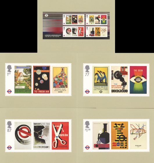 London Underground: Miniature Sheet PHQ Card