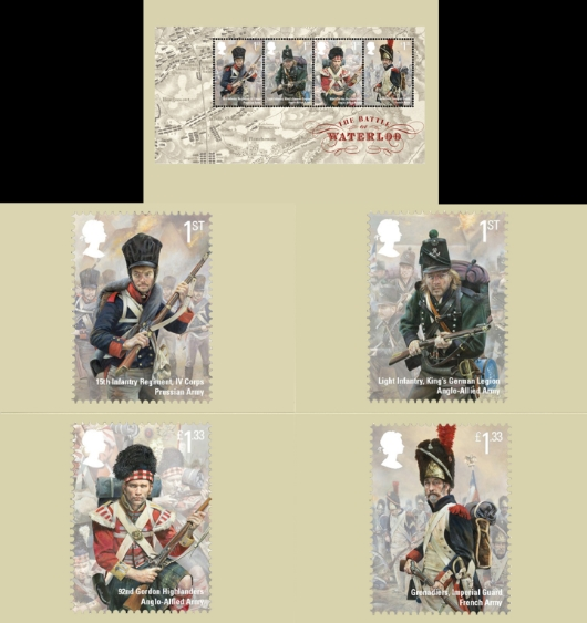 Battle of Waterloo: Miniature Sheet PHQ Card