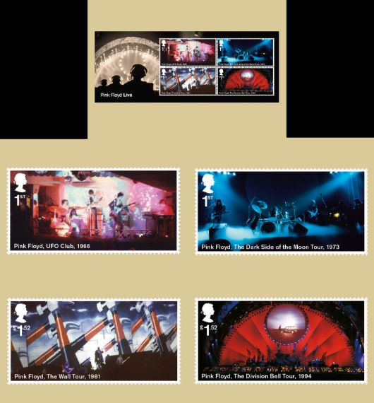 Pink Floyd: Miniature Sheet PHQ Card
