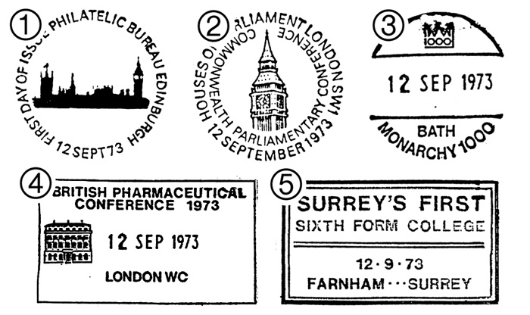 Parliament 1973 Postmarks
