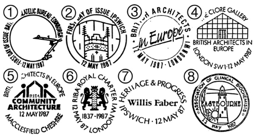 British Architects in Europe Postmarks