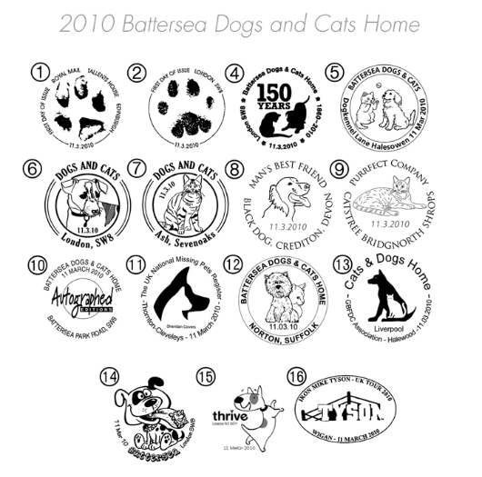 Battersea Dogs & Cats Home Postmarks