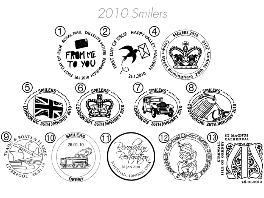 Smilers: Miniature Sheet Postmarks
