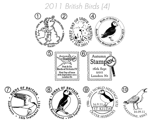 Birds of Britain: Series No.4 Postmarks