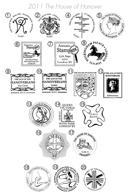 The Hanoverians: Miniature Sheet Postmarks