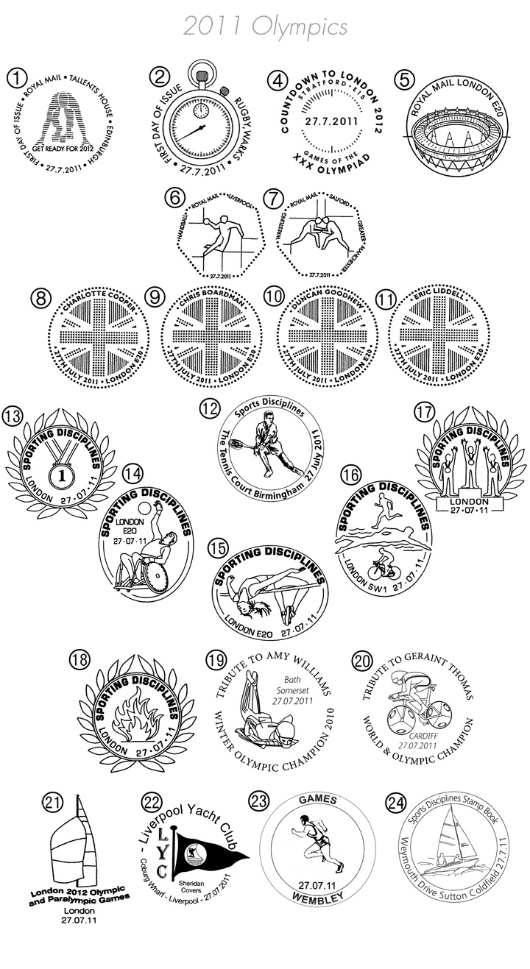 Olympic Games: [Composite Sheet] Postmarks