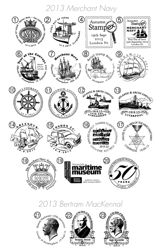 Self Adhesive: Merchant Navy Postmarks