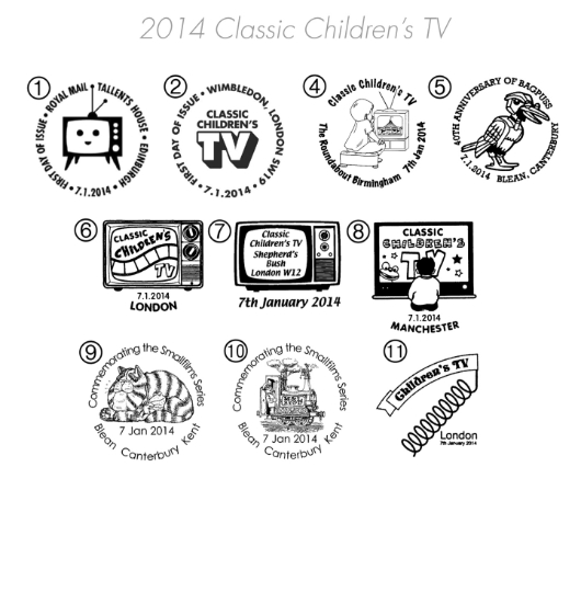 Classic Children's TV Postmarks
