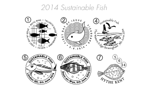 Sustainable Fish Postmarks