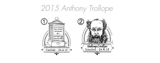 Anthony Trollope [Commemorative Sheet] Postmarks