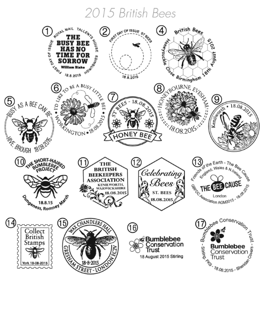Bees: Miniature Sheet Postmarks
