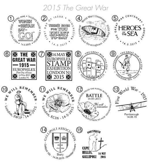 PSB: The Great War - Pane 3 Postmarks