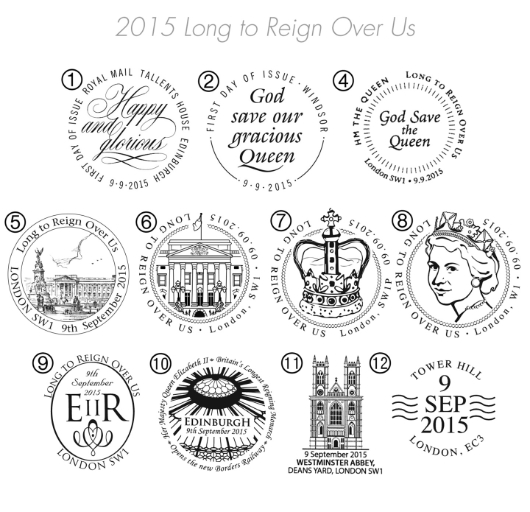 Long to Reign Over Us: Miniature Sheet Postmarks