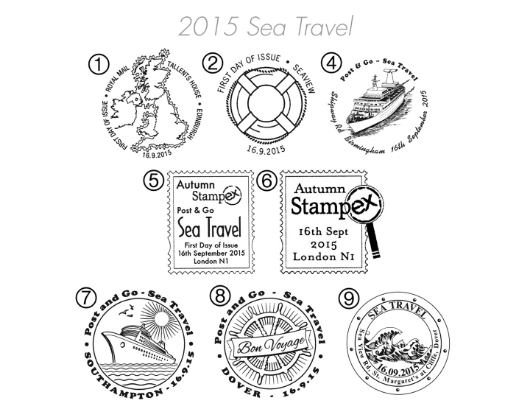 Sea Travel Postmarks
