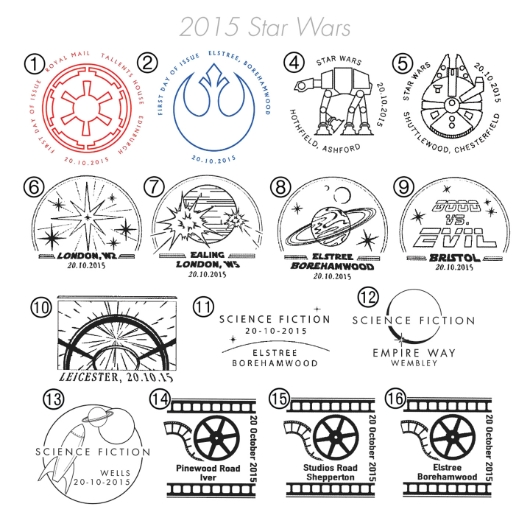 Star Wars: Miniature Sheet Postmarks