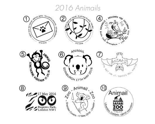 Animail: Miniature Sheet Postmarks