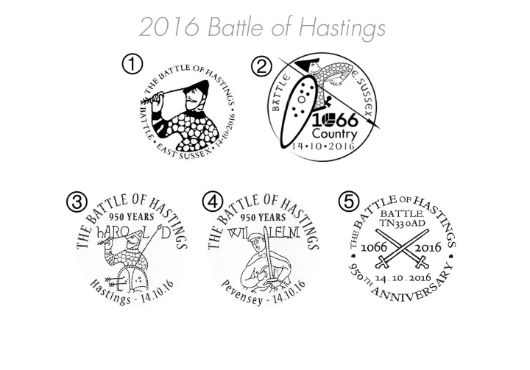 Battle of Hastings [Commemorative Sheet] Postmarks
