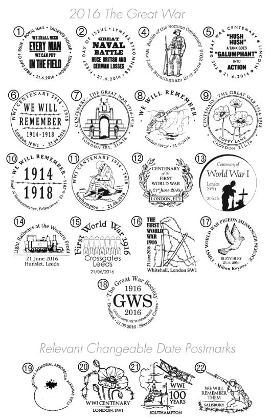 The Great War Postmarks