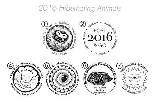 Hibernating Animals Postmarks