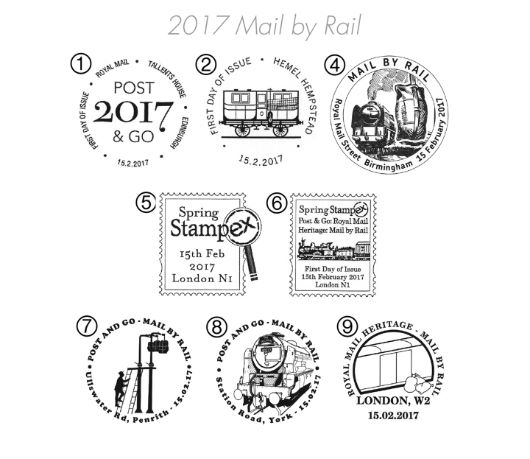 Travelling Post Office Postmarks
