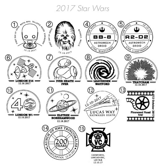 Self Adhesive: Star Wars Postmarks