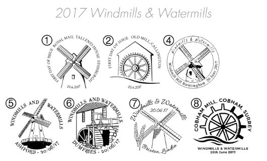 Windmills and Watermills Postmarks