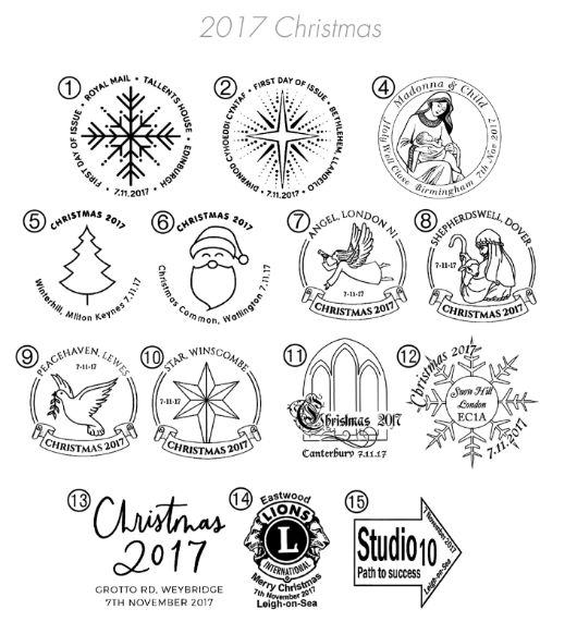 Christmas 2017: Miniature Sheet Postmarks