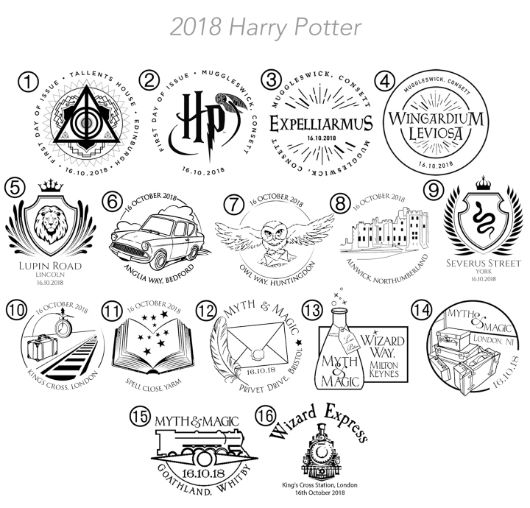 Harry Potter: Miniature Sheet Postmarks