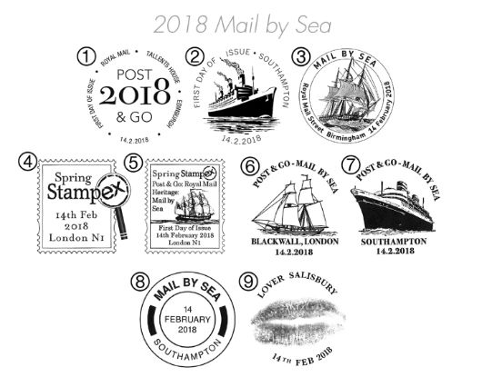 Mail by Sea Postmarks