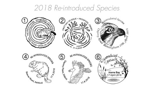 Re-introduced Species Postmarks
