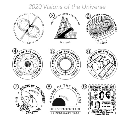 PSB: Visions of the Universe - Pane 4 Postmarks