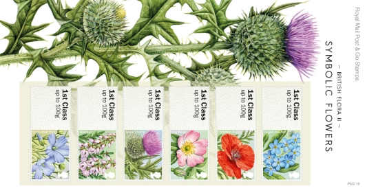 British Flora: Series No.2, Symbolic Flowers Presentation Pack