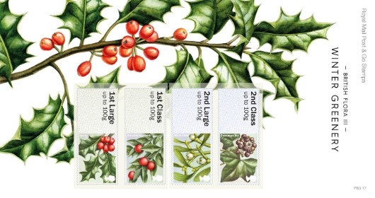 British Flora: Series No.3, Winter Greenery Presentation Pack