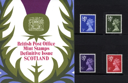 Scotland 3 1/2p, 5 1/2p, 8p Presentation Pack