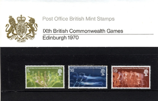 Commonwealth Games 1970 Presentation Pack
