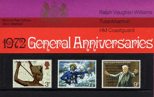General Anniversaries 1972 Presentation Pack