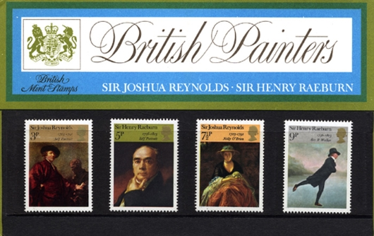 British Paintings 1973 Presentation Pack