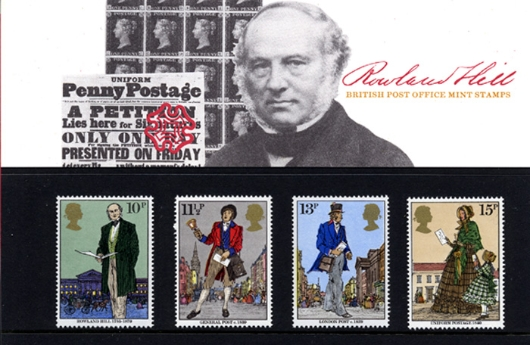Rowland Hill: Stamps Presentation Pack