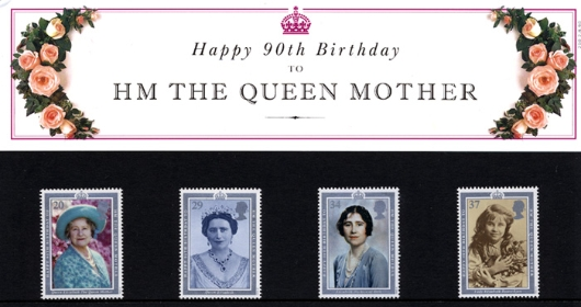 Queen Mother 90th Birthday Presentation Pack