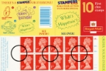 View enlarged 'Window: Stampers: 10 x 1st What's Happening?' Image.
