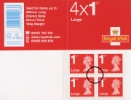 View enlarged 'Self Adhesive: Red Iridescent Overprint: 4 x 1st Large' Image.