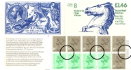 View enlarged 'Counter: New Design: £1.46 Postal Hist. 8 (Seahorses)' Image.