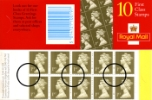 Window: Gold Definitives: 10 x 1st