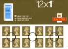Self Adhesive: Gold Stamps: 12 x 1st