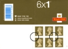 Self Adhesive: Gold Stamps: 6 x 1st
