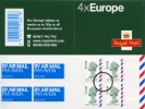Self Adhesive: Airmail: 4 x Europe (20 grams)